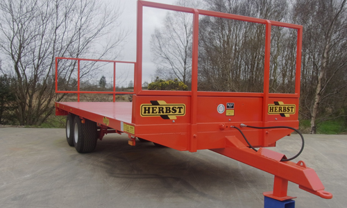 Red Herbst Bale Trailer