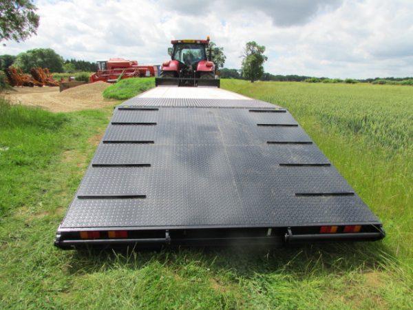 black flatbed trailer