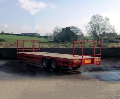 red low loader